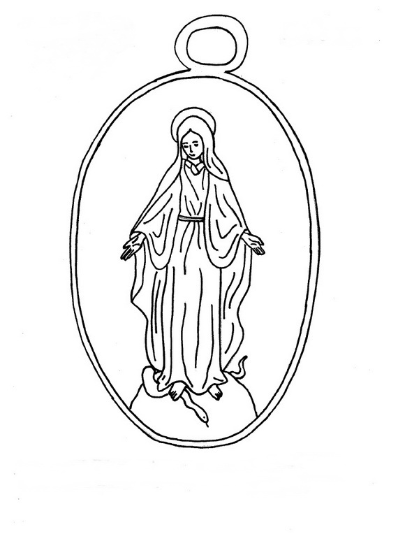 Best virgin mary coloring pages for Blessed mother coloring page
