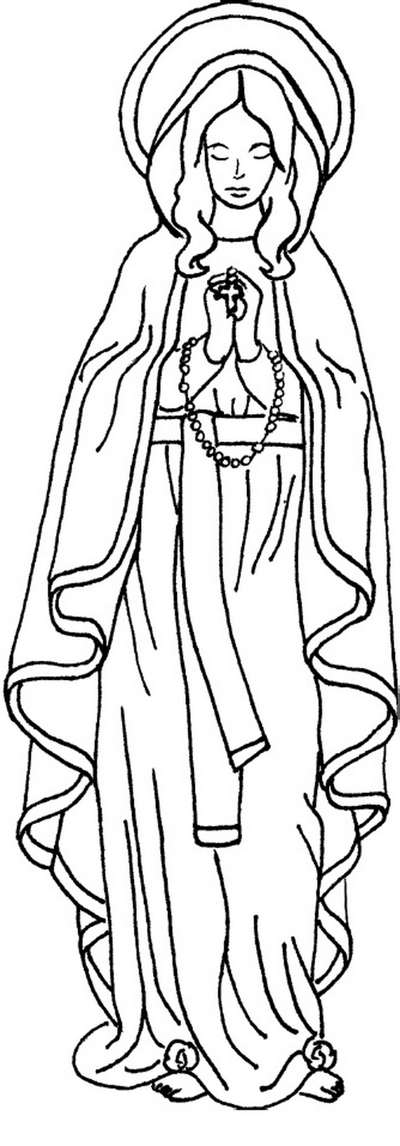 Immaculate Conception Coloring Pages
