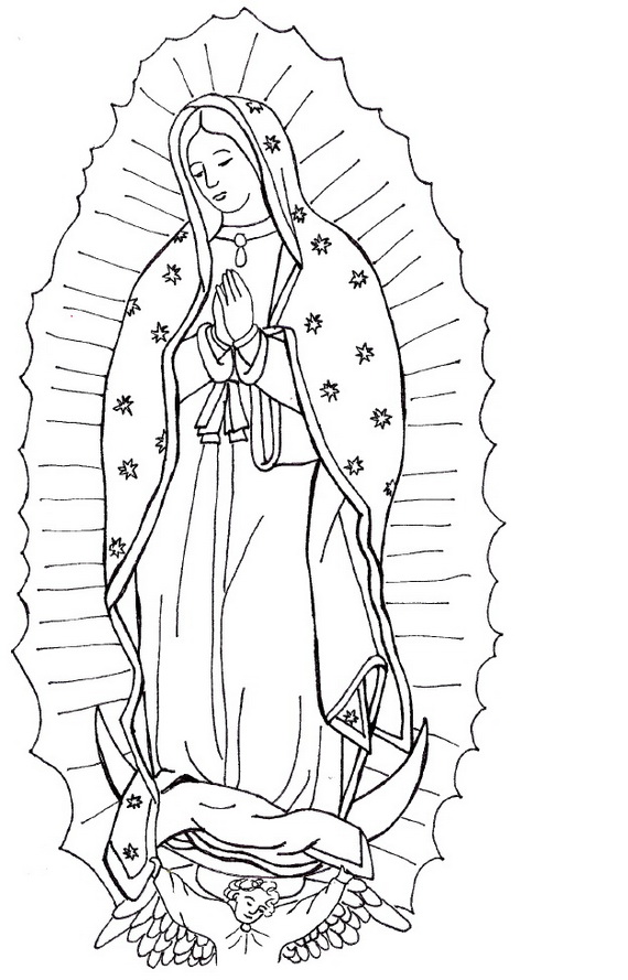 blessed virgin mary coloring pages - photo#9