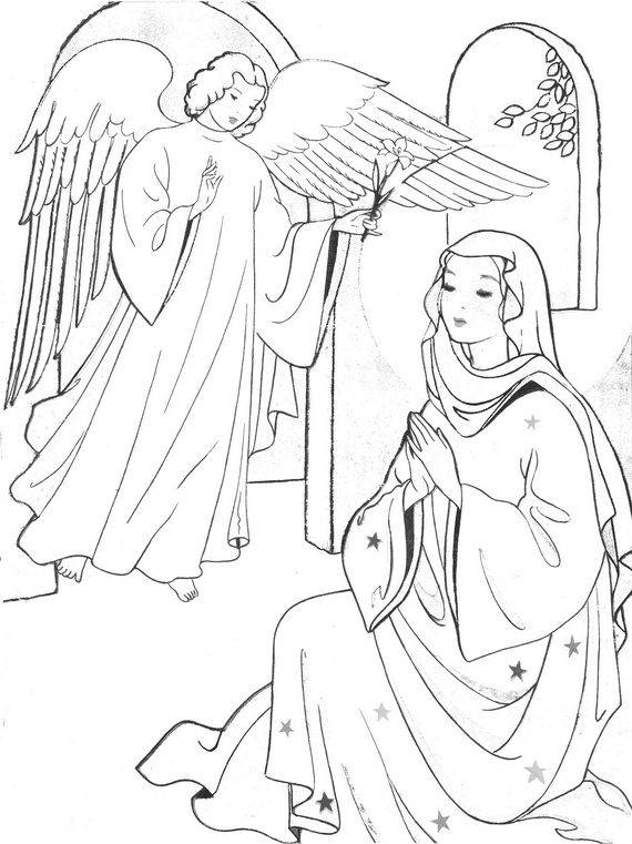 The Immaculate Conception Coloring Sheet Coloring Pages