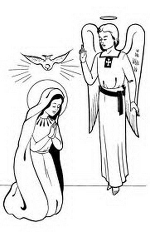 Printable Coloring Virgin Mary Coloring Pages