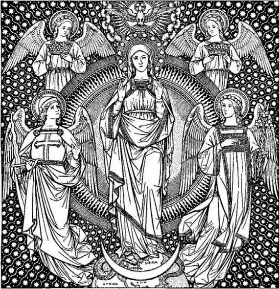 Immaculate Conception Coloring Pages - family holiday.net/guide to ...