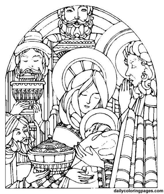 Immaculate Conception Coloring Pages family holiday