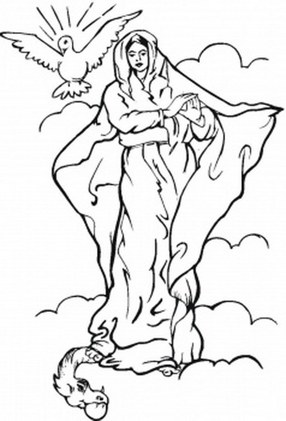 ascension of mary coloring pages - photo#26