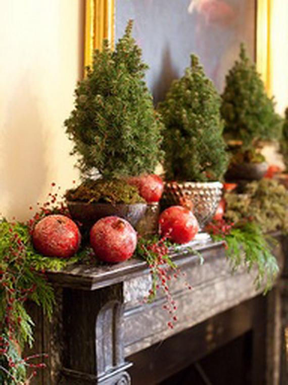 Decorating Ideas > 48 Inspiring Holiday Fireplace Mantel Decorating Ideas  ~ 053300_Holiday Decorating Ideas Mantel