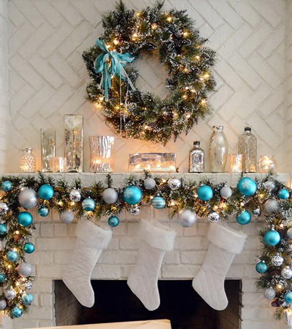 ... Inspiring Holiday Fireplace Mantel Decorating Ideas | Family Holiday