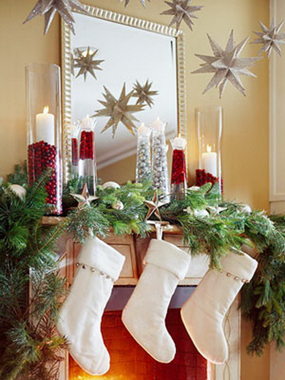 48 Inspiring Holiday Fireplace Mantel Decorating Ideas family