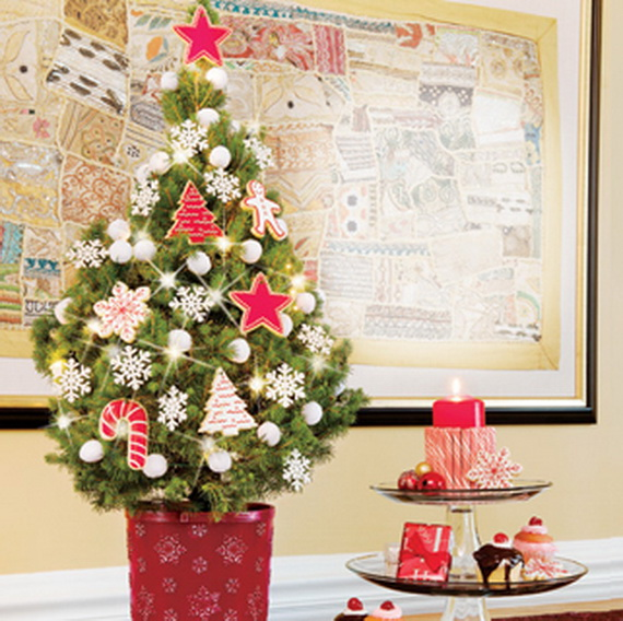 Decorated Miniature Christmas Trees