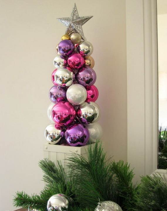 Christmas Tree Tabletop Part - 42: ... Miniature-tabletop-christmas-tree-decorating-ideas_381