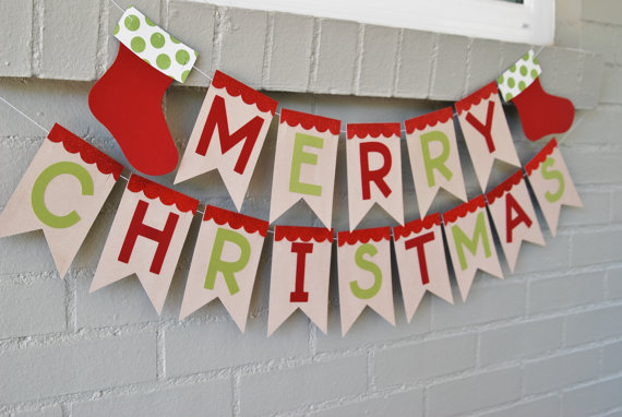 personalized homemade garland christmas banners ideas family