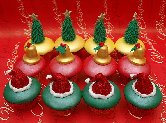Simple and creative christmas themed cupcake designs and for Creative cupcake recipes and decorating ideas