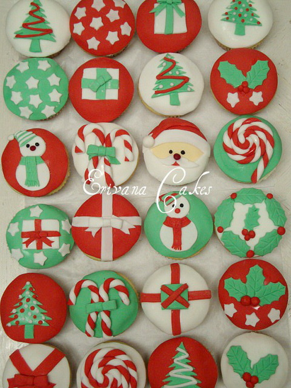 Simple and creative christmas themed cupcake designs and for Christmas theme design