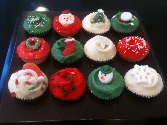 Christmas Cupcake Decorating Ideas Simple : Simple and Creative Christmas Themed Cupcake Designs and ...