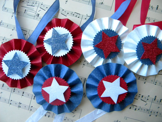 pics photos   red white and blue fan craft