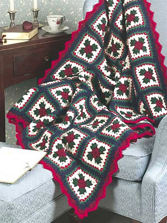 Sparkly Christmas Granny Afghan Family Holiday Net Guide