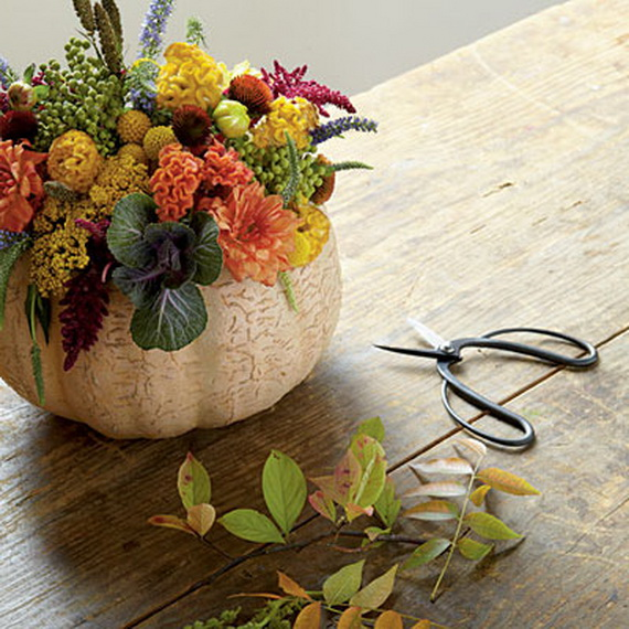 Thanksgiving & Fall Autumn White Pumpkin Centerpiece and Decorating ...
