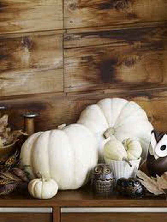 Thanksgiving Fall Autumn White Pumpkin Centerpiece And Decorating Ideas Autumnal Decor