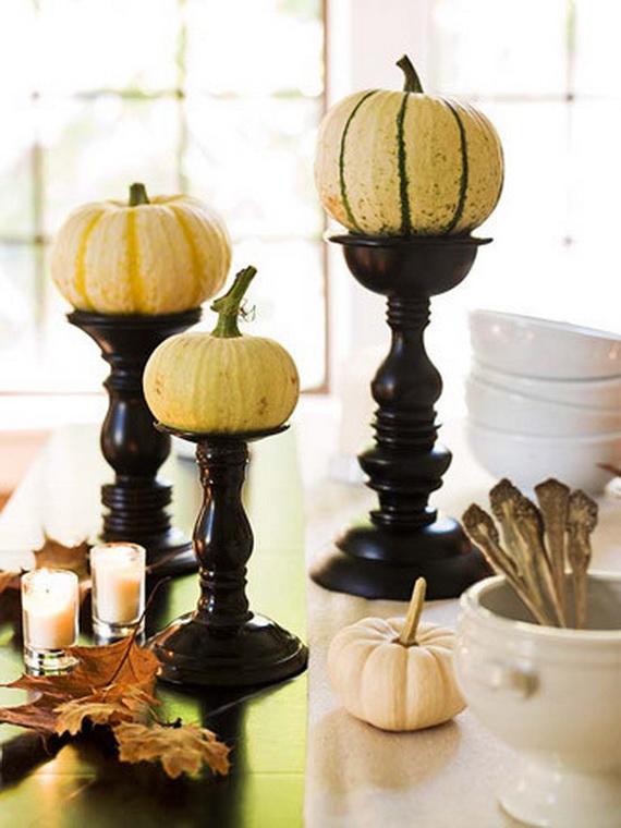 Thanksgiving & Fall Autumn White Pumpkin Centerpiece and ...