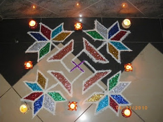 Diwali decoration ideas top diwali rangoli designs for Room decoration ideas in diwali