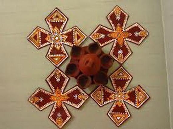 Diwali decoration ideas top diwali rangoli designs for Diwali decoration material