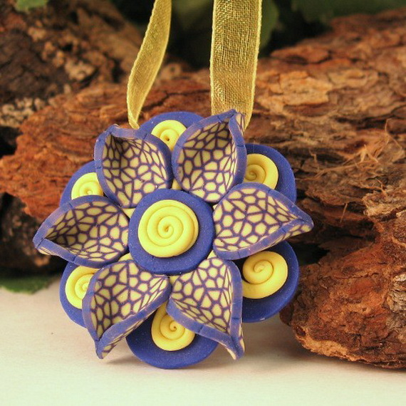 Unique Handmade Polymer Clay Christmas Ornaments - family holiday ...