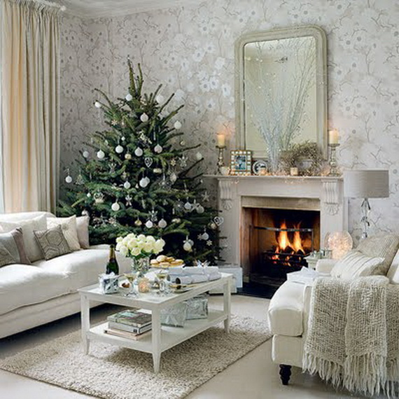 White Christmas Decorating Ideas Family Holiday Net Guide To