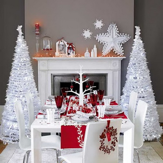 images source - White Christmas Tree Decoration Ideas