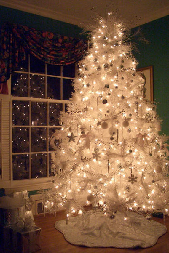 images source - Images Of White Christmas Trees Decorated