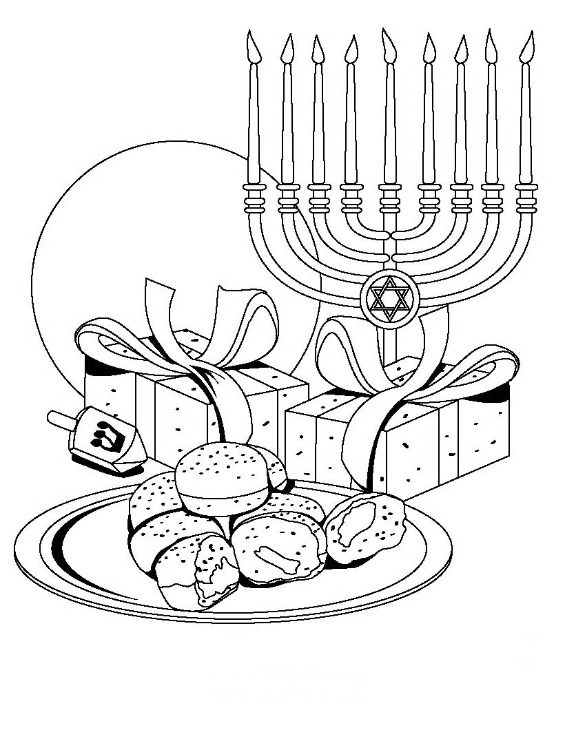 hanukkah coloring pages printable - photo#7