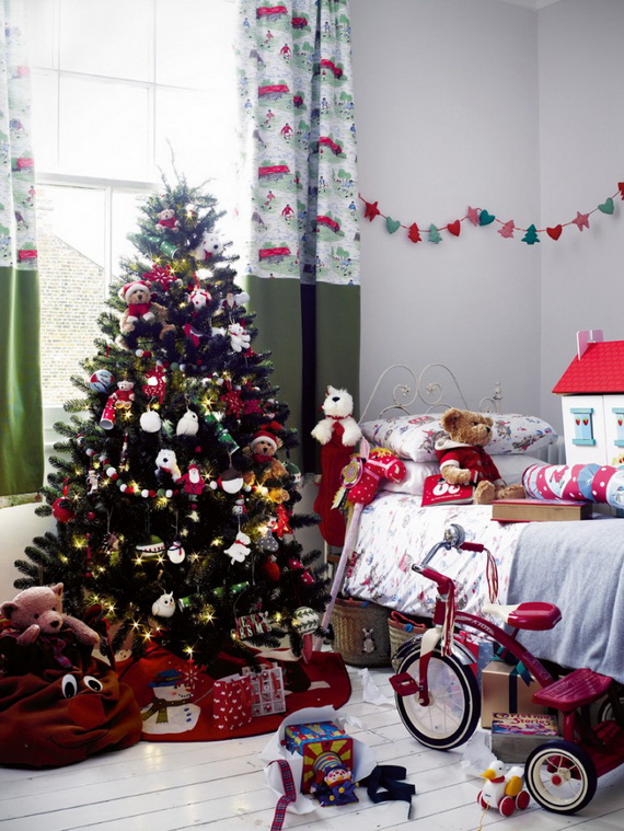 christmas decoration ideas for children's bedrooms - family