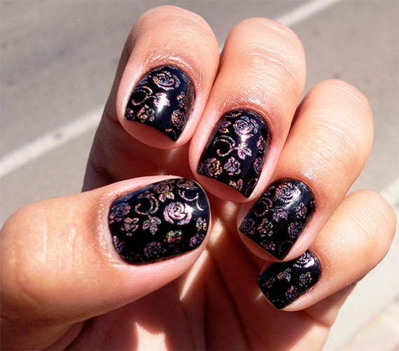Creative hot fashion new year eve nail art designs 2013 family images source prinsesfo Images