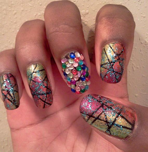 Рисунки на ногтях в домашних условиях легче не бывает