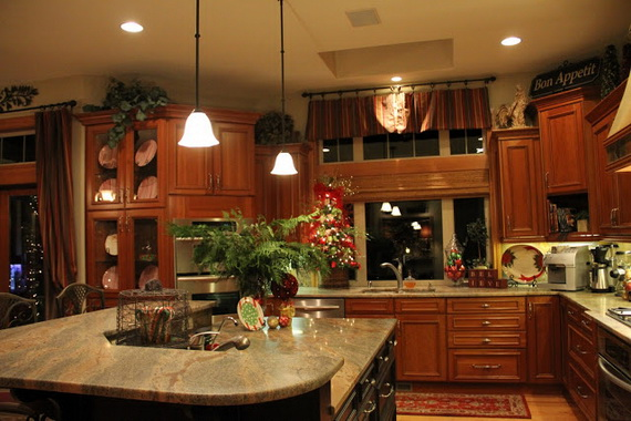 Decorating A Kitchen For Christmas 2017 Grasscloth Wallpaper