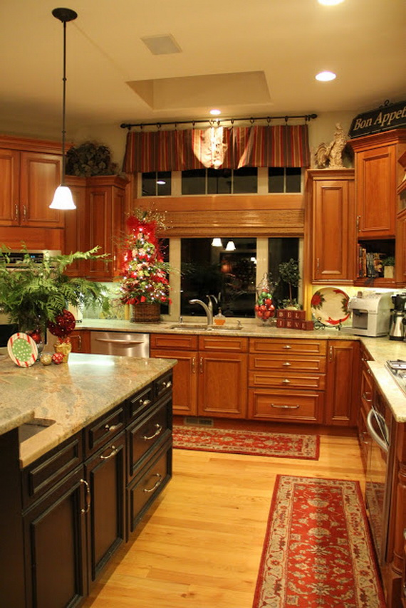Christmas decorations for kitchen ideas christmas decorating for Unusual kitchen ideas