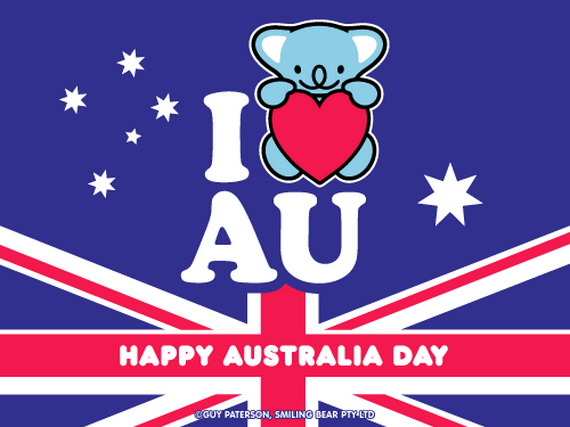 Australia Day Card Family Holiday Net Guide To Family