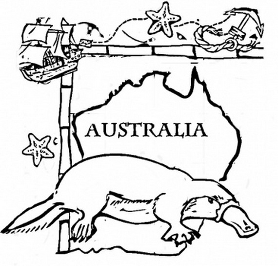 Australia Day Coloring Pages For Kids Family Holiday Net