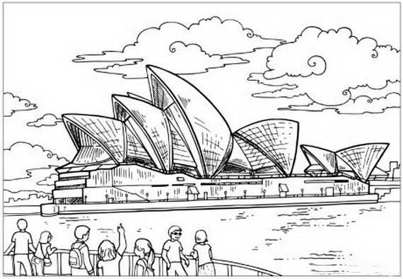 Australia Day Coloring Pages For Kids Family Holiday Net Guide To
