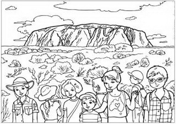 Gallery For gt Australian Coloring Page