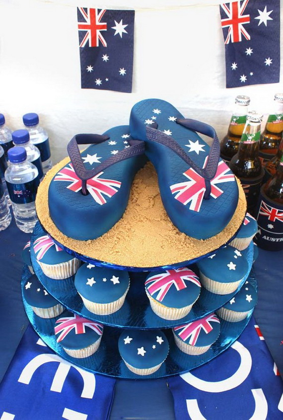 Australia Day Decorating Cupcake Ideas_33