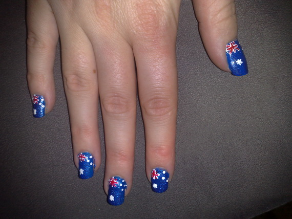 Australia day nail art family holidayguide to family australia day nail art 06 prinsesfo Images