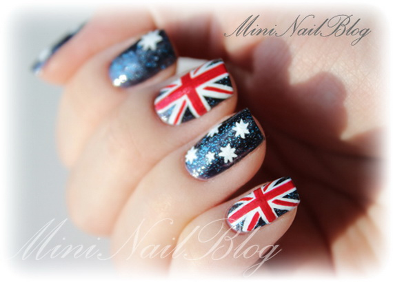 Australia day nail art family holidayguide to family australia day nail art 12 prinsesfo Images