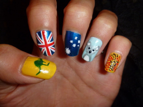 Australia day nail art family holidayguide to family australia day nail art 52 prinsesfo Images