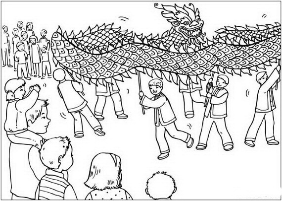 chinese new year snake coloring pages_24 - Chinese New Year Coloring Pages