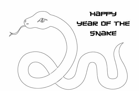 Chinese New Year Snake Coloring Pages - family holiday.net/guide to ...