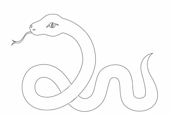 water snake coloring pages - photo#23