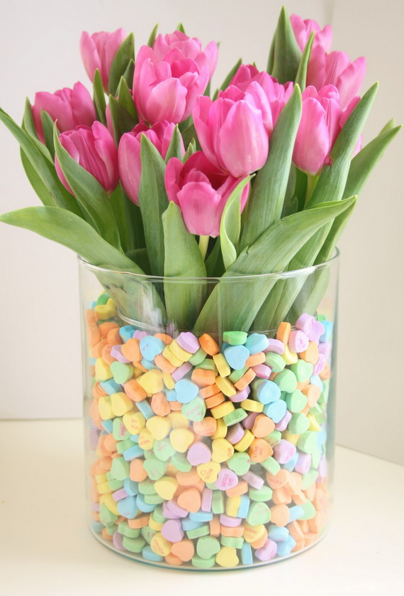 Gorgeous flower decoration ideas for valentine s day for Valentines day flower ideas