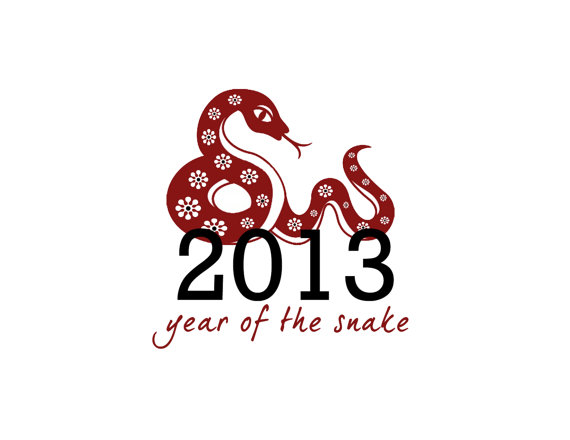 Lunar Chinese New Year 2013 Greetings Holiday Cards Year of the Snake _31