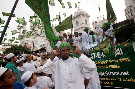 SRI LANKA. Celebrating Milad-un-Nabi at the Dewatagaha Mosque in Colombo.