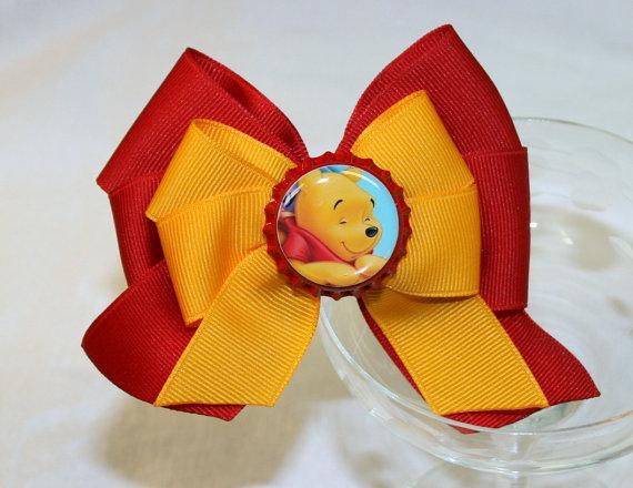 Winnie the Pooh Elegant Hair Bows For Girls _06