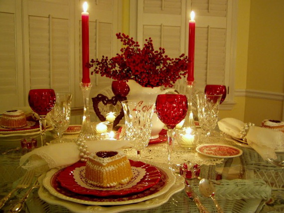 60-Cool -and -Beautiful- Valentine- Table -Decorating- Ideas _21